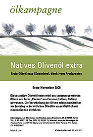 Etikett Natives Olivenöl Extra